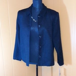 NWT. Briggs New York button down jacket blazer